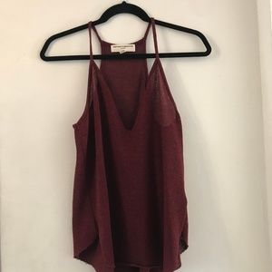 Urban Outfitters, Knit-Tank (Maroon)